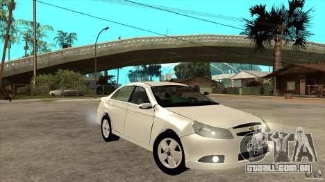 Chevrolet Epica 2008 para GTA San Andreas vista traseira