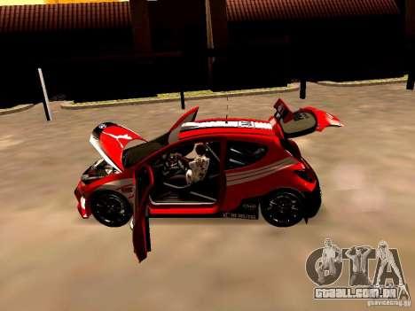 Peugeot 207 S2000 Puma para GTA San Andreas vista traseira