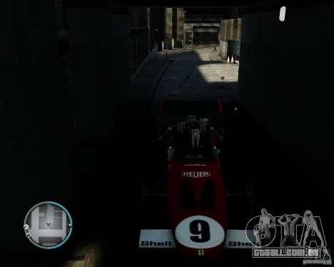 Ferrari F1 v1.0 para GTA 4 vista de volta