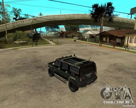 FBI Hummer H2 para GTA San Andreas vista direita