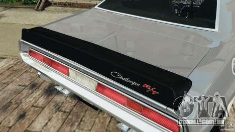 Dodge Challenger RT 1970 v2.0 para GTA 4 motor