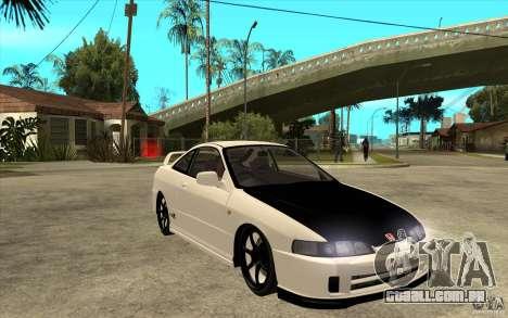 Honda Integra Spoon Version para GTA San Andreas vista traseira