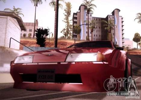 Elegy Wide Body para GTA San Andreas vista traseira