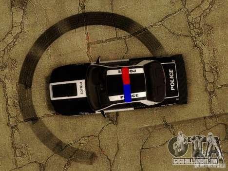Nissan Skyline R32 Police para vista lateral GTA San Andreas