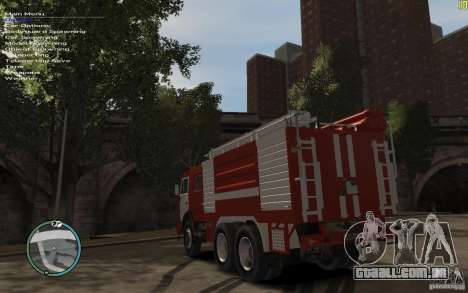 Kamaz bombeiro para GTA 4 vista direita