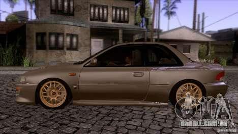 Subaru Impreza 22 para GTA San Andreas esquerda vista