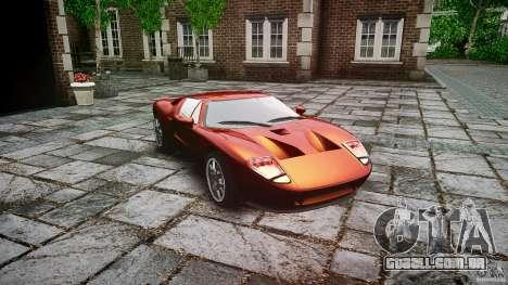 Ford GT para GTA 4 vista de volta
