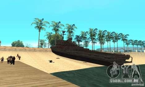 Barco para GTA San Andreas traseira esquerda vista