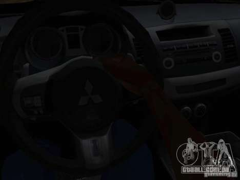 Mitsubishi Lancer Evo X para GTA San Andreas vista traseira