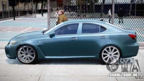 Lexus IS F para GTA 4 traseira esquerda vista