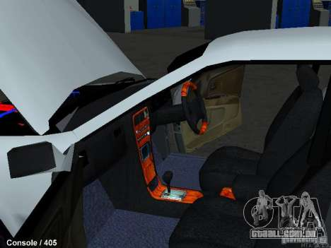 Toyota Mark II 100 1JZ-GTE para GTA San Andreas vista interior