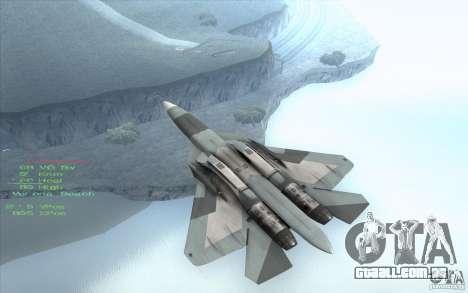 SU t-50 Pak FA para GTA San Andreas traseira esquerda vista