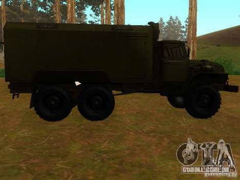 Ural 4320 Kung para GTA San Andreas vista traseira