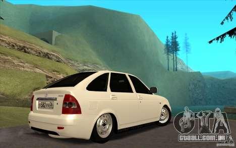 Lada Priora 2172 Hatchback para GTA San Andreas traseira esquerda vista