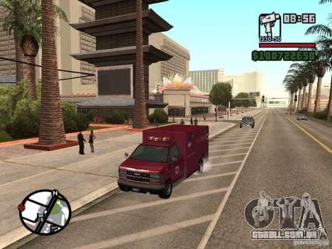 Ambulância de GTA IV para GTA San Andreas