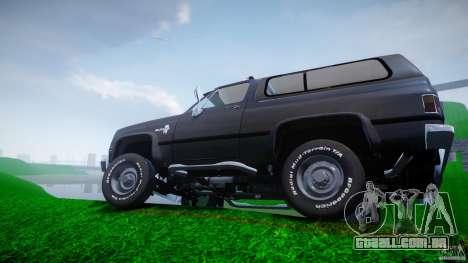 Chevrolet Blazer K5 Stock para GTA 4 rodas
