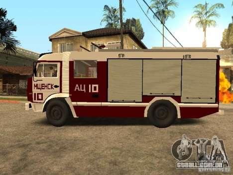 KAMAZ 43253 Rozenbauer para GTA San Andreas esquerda vista