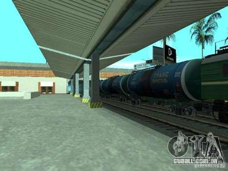 Vagão-cisterna para GTA San Andreas traseira esquerda vista