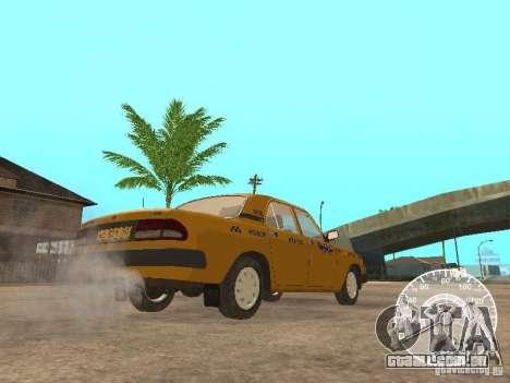 Táxi de GAZ 3110 Volga para GTA San Andreas vista traseira