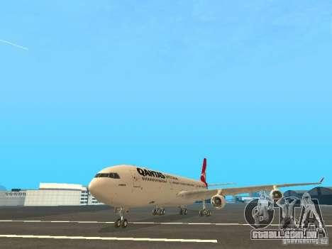 Airbus A340-300 Qantas Airlines para GTA San Andreas esquerda vista