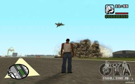 Apoio aéreo quando atacando. para GTA San Andreas terceira tela