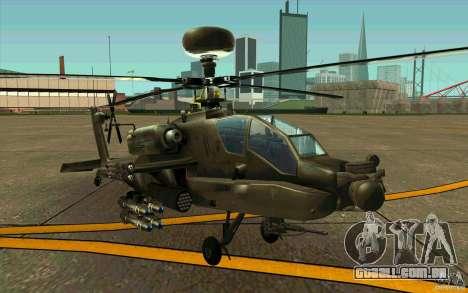 Apache AH64D Longbow para GTA San Andreas esquerda vista