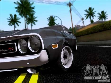 Dodge Challenger HEMI para GTA San Andreas vista direita