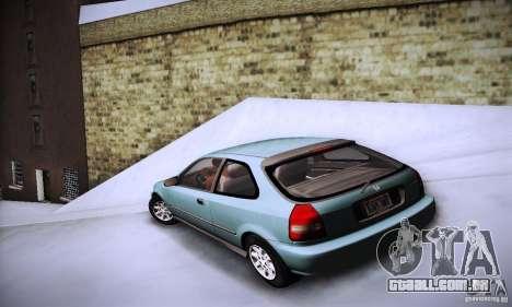 Honda Civic EK9 para GTA San Andreas esquerda vista