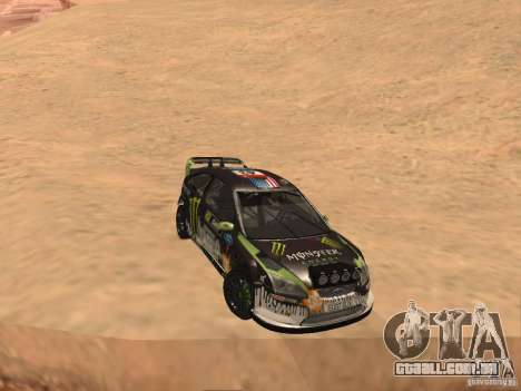 Ford Focus RS2000 v1.1 para GTA San Andreas vista traseira