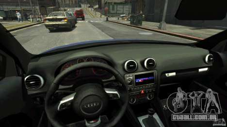 Audi S3 2006 v 1.1 tonirovanaâ para GTA 4 vista interior
