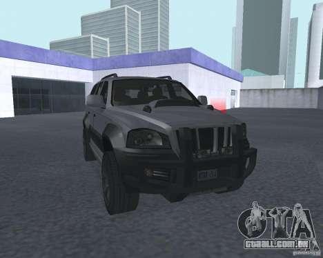 SUV de NFS para GTA San Andreas vista traseira