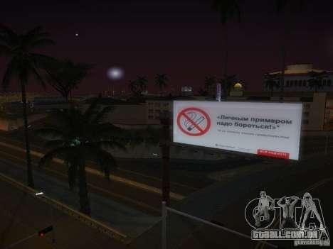 Novos cartazes em todo o estado para GTA San Andreas quinto tela