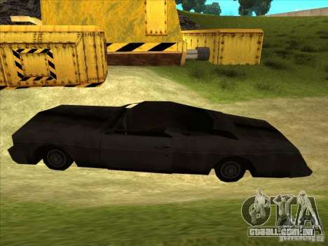 Real Ghostcar para GTA San Andreas esquerda vista