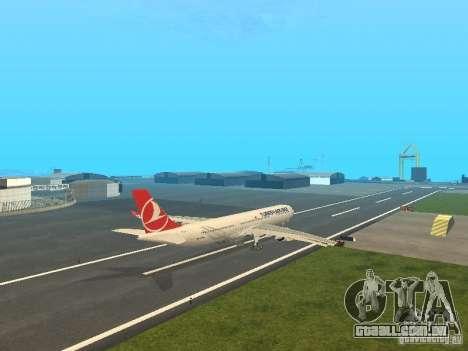 Airbus A330-300 Turkish Airlines para GTA San Andreas vista direita
