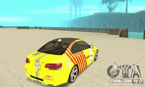 BMW M3 2008 para o motor de GTA San Andreas