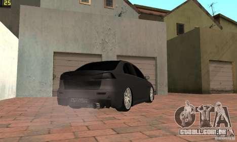 Mitsubishi Lancer Evolution Dag Style para GTA San Andreas esquerda vista