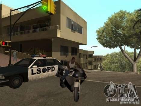 NRG-500 Police para GTA San Andreas traseira esquerda vista