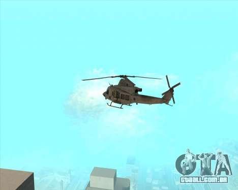 UH-1 Iroquois para GTA San Andreas vista direita