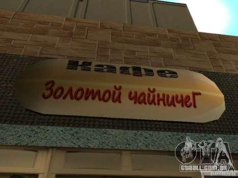 Nova Burgershot: ČajničeG de ouro para GTA San Andreas terceira tela