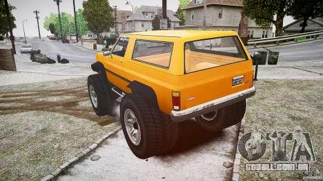 MonsterTruck para GTA 4 traseira esquerda vista