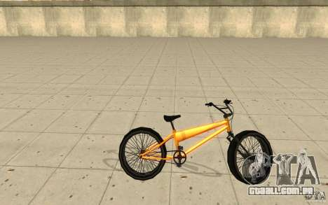 BMX Long Big Wheel Version para GTA San Andreas esquerda vista