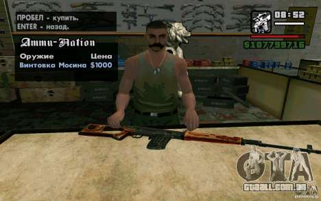 Dragunov sniper rifle v 2.0 para GTA San Andreas segunda tela