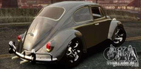 Volkswagen Fusca para GTA 4 esquerda vista