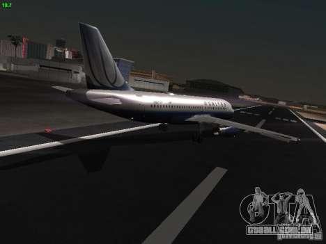 Airbus A319 United Airlines para GTA San Andreas vista direita