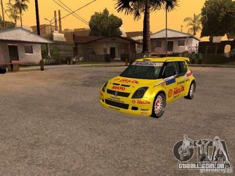 Suzuki Swift Rally para GTA San Andreas vista traseira