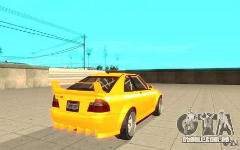 Sultan RS de GTA 4 para GTA San Andreas traseira esquerda vista