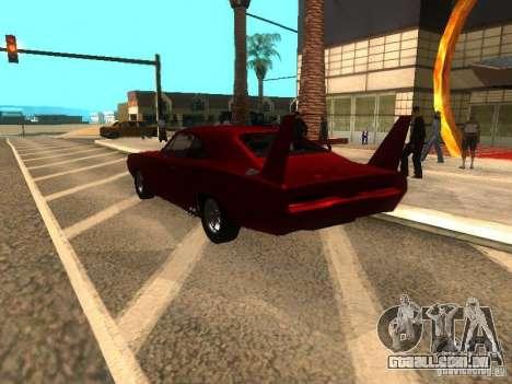 Dodge Charger Daytona Fast & Furious 6 para GTA San Andreas vista traseira