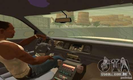 Ford Crown Victoria Utah Police para GTA San Andreas traseira esquerda vista