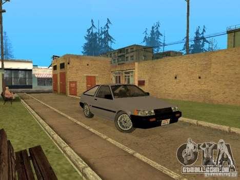 Toyota Corolla AE85 Levin GT-Apex para GTA San Andreas traseira esquerda vista