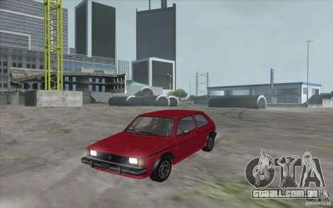 Volkswagen Rabbit 1986 para GTA San Andreas